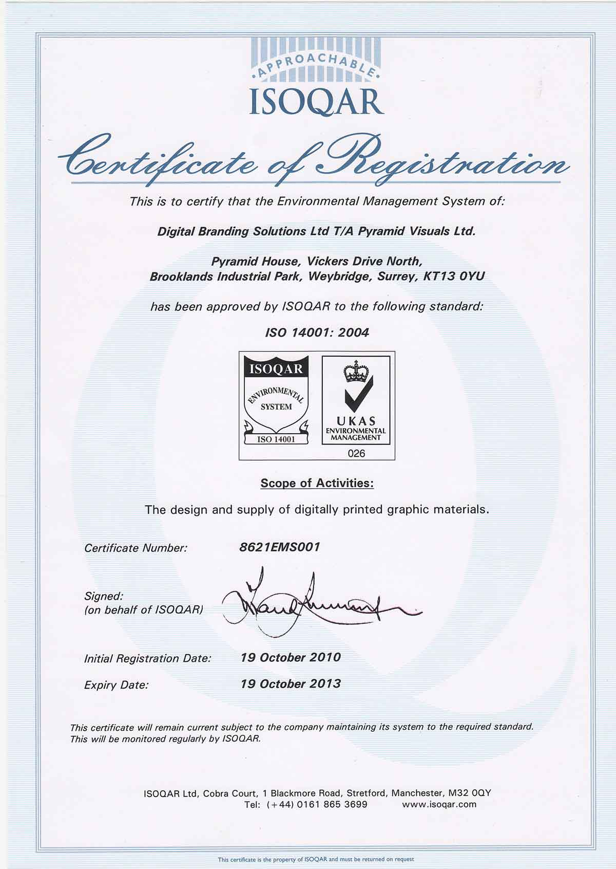 iso 14001 certification meaning