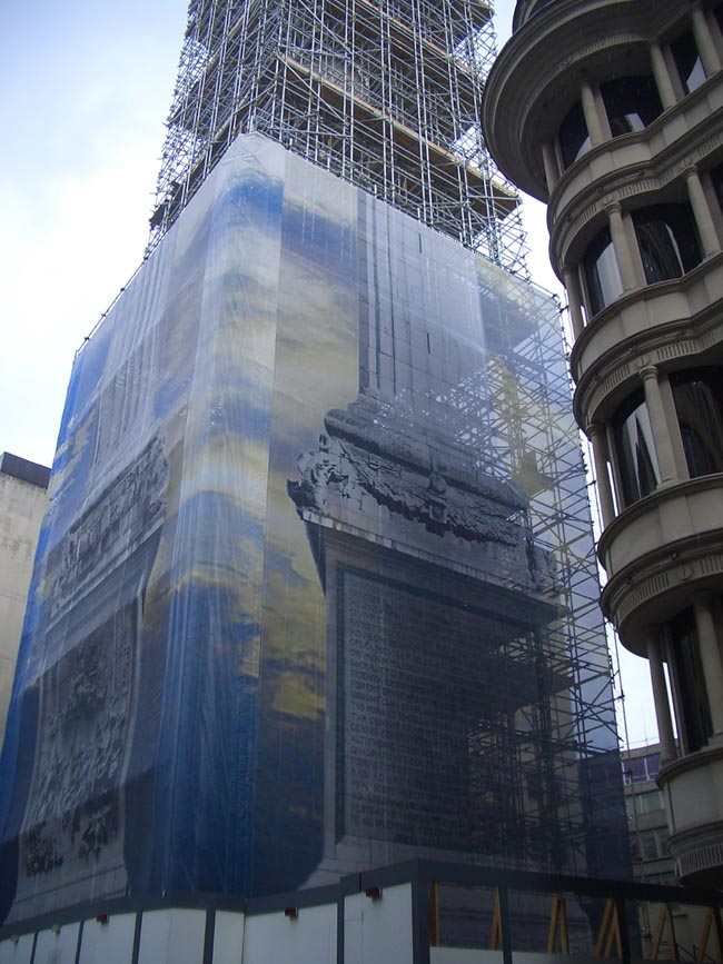 Wrapping The Monument Print Exhibit Brand Wrap